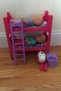 Baby Dolls with Bunk Bed and Accessories