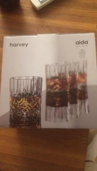Klart glass Harvey Aida vin glass sett boks Stavanger, 4011