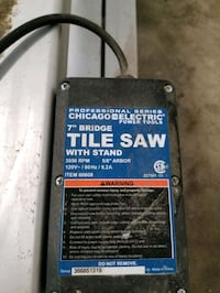 Chicago Electric tile saw Toledo, 43613