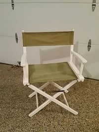 Vintage Directors chair green canvas white painted Phoenixville, 19460