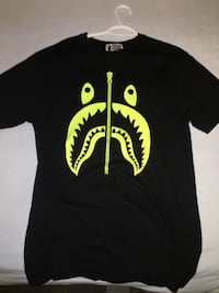 Black and neon bathing ape shark tee Burlington, L7M 3Y5