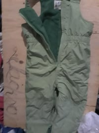 toddler's green zip-up overall pants London, N6A