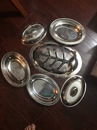 BIG BIG SALE!!! CLEANING space for new items coming in this Spring. Prices reduced up to 50% ( please check other ads to get the good deal) silverware serving dish/ tray with cover, 40 for all. High quality, but need to be cleaned  Hamilton, L9A 1T3
