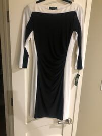 black and white color-block long-sleeved dress Edmonton, T5Z 3Z8