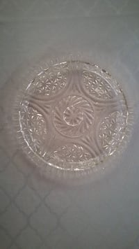 Crystal serving platter - over 100 years old