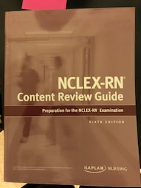 NCLEX Kaplan review book, never used in great condition  Buffalo, 14226