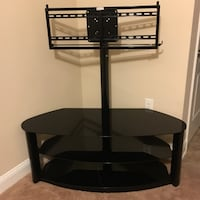 black wooden TV stand with mount Fayetteville, 28301