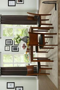 -Lulea Cherry 5-Piece Dinette Set   Houston