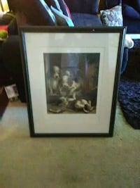 black wooden framed painting of man and woman Greensboro, 27405