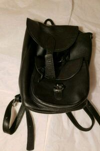 black and gray leather backpack New York, 10029