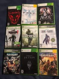 9 Xbox 360 games $30 for all!!!!! 3151 km