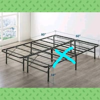 Twin foldable metal bed frame