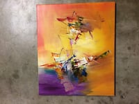 3 piece set abstract painting-oil based canvas