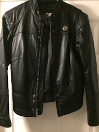 Ladies Harley Davidson Black leather zip-up jacket 474 km