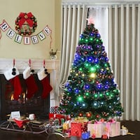 green and multicolored Christmas tree 3741 km