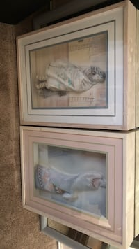 two white wooden framed paintings La Quinta, 92203