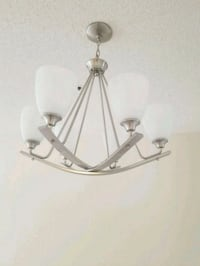 gray metal framed 6-bulb uplight chandelier Fort Meade, 20755