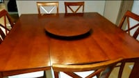 dining set with lazy Susan
