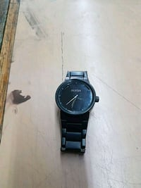 round black analog watch with black link bracelet Edmonton, T5P 3Y3