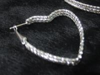 Heart Hoop Earrings - Silver Jewelry Necklaces Charms Rings Etc Rockford