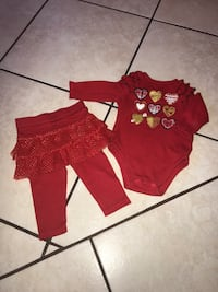 baby's red and black onesie McAllen, 78501