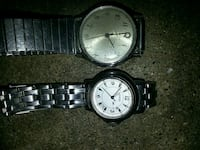 two round silver analog watches Omaha, 68108