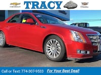 2011 Caddy Cadillac CTS Sedan Performance sedan Red