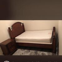 brown wooden bed frame with mattress Vaughan, L6A 2C7