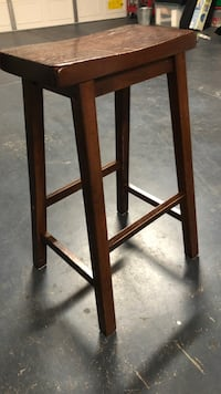 brown wooden framed glass top side table Modesto, 95355