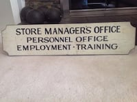 Vintage double sided wooden sign Wilmington, 19807