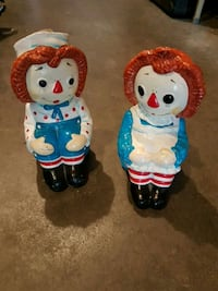 Raggedy Ann and Andy bookends  Edmonton, T5T 6E2