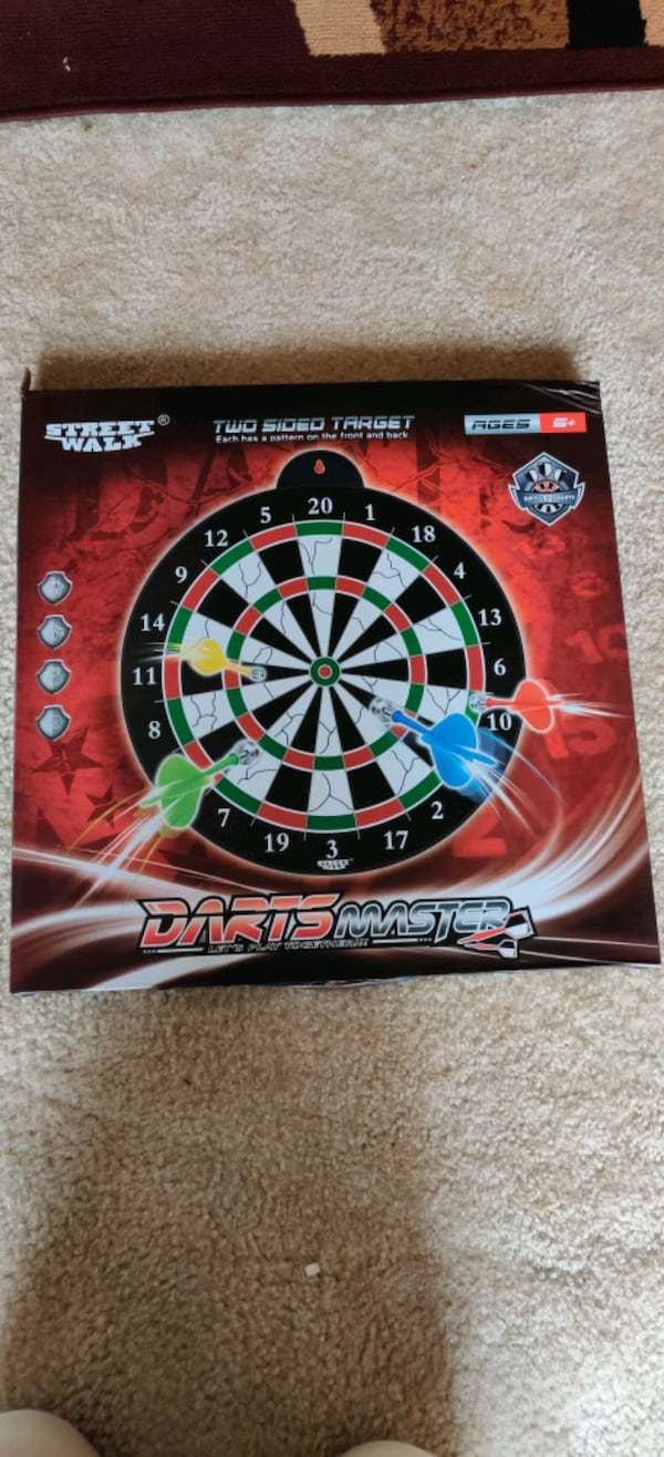 Magnetic dart board 12 PC's magnetic dart excellent indoor game party 044aa99b-c03f-4a6e-8a1c-9657be235145