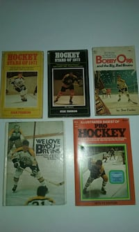 5, vintage hockey books