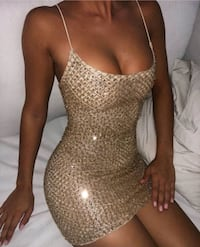 Gold mini dress Australian brand (US 2/AUS 6) Toronto, M6J 2R7
