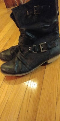 7 Steve madden leather moto boots