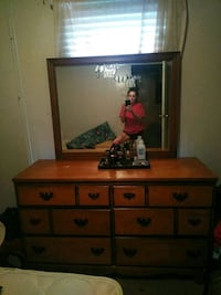 brown wooden dresser with mirror Southaven, 38671