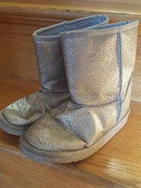 Girls sparkly silver boots sz 3