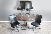 Vintage mid century Chromcraft dining table and chairs set