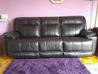 black leather 3-seat sofa Montreal, H3J