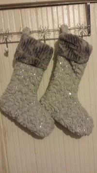 NEW DOMAIN SEQUINED FAUX FUR HOLIDAY STOCKINGS Somerville, 02144