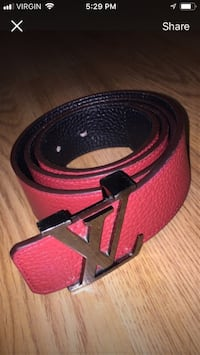 Black and red Louis vuitton belt