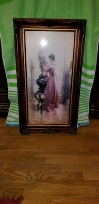 Vintage Painting  Cliffside Park