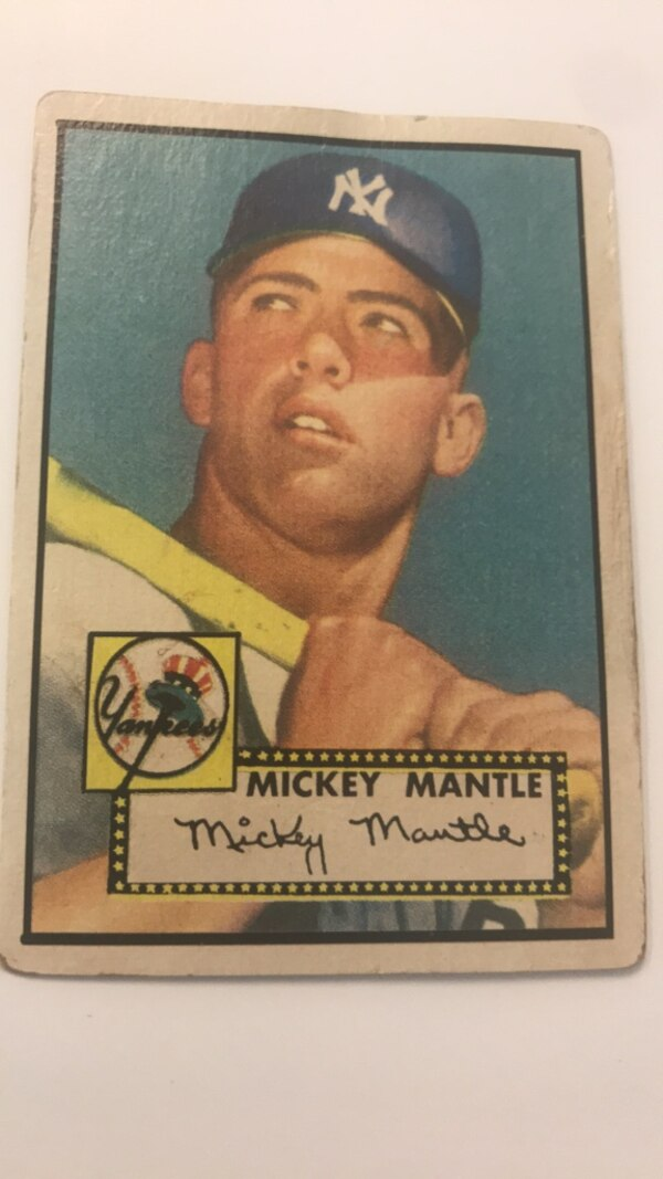 1952 Topps Mickey Mantle Rookie Card 311