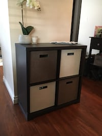 Dark brown/black wooden cabinet