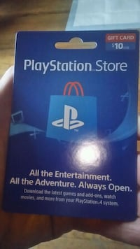 PlayStation store gift card $5.00 Cranston, 02920