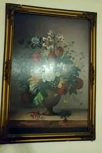 brown wooden framed painting of flowers Queens, 11355