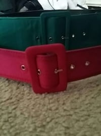 two green and red leather belts Provo, 84601
