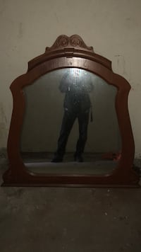 brown wooden framed glass mirror New Hope, 55428