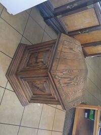 Brown End Table with drawers $10
