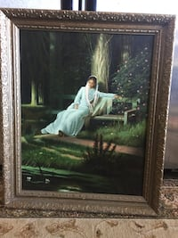 brown wooden framed painting of woman Salem, 97302
